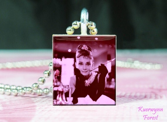 Breakfast at Tiffany's - Audrey Hepburn - Tile Pendant
