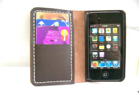 iPhone 4 Wallet Case with Bumper attachment -Dark Brown