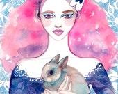 ART PRINT / Cherry Blossom Girl