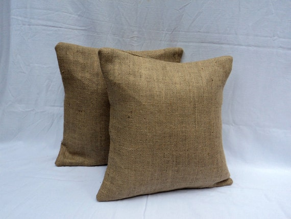 Burlap Pillow Covers Reserved Listing for Jamie