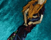 Willow Hand carved wooden OOAK art doll