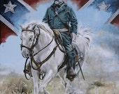 Civil War Art notecards, General Robert E Lee, 4 pack with envelopes (blank inside)