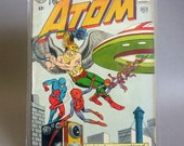 "Vintage Comic Book, The Atom No. 7, ""Case of the Cosmic Camera"", Featuring Hawkman, July 1963, DC Comics"