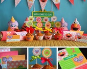 Elmo and Abby Birthday Printables, Elmo and Abby Party Supplies, Elmo Abby Party Supplies, Elmo Abby Cadabby Birthday, Elmo Twins Party