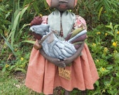 Primitive Doll, Rooster epattern, sewing pattern