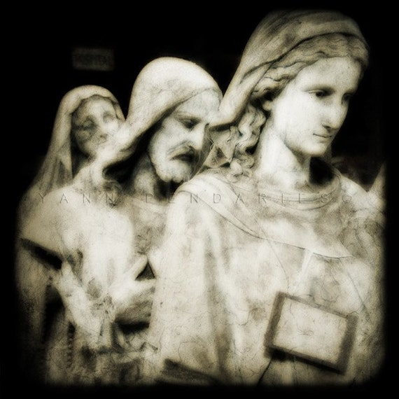 Religious statue, Black and white photography, Religious art, Religious icon, Virgin mary statue, Virgin mary art, Wall decor