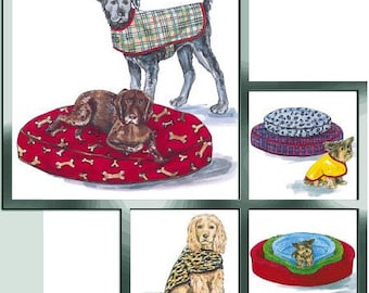 DOG BED Sewing Pattern - Dogs Coats Beds Bed Covers Pet Coat OOP 3071