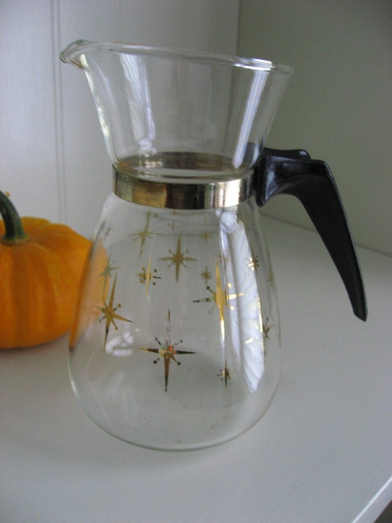 Pyrex Compass Star Coffee Server - 1.5 cup - Atomic Midcentury