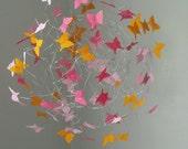 Butterfly Mobiles, Baby Mobiles, Crib Mobiles, Orange Nursery Decor