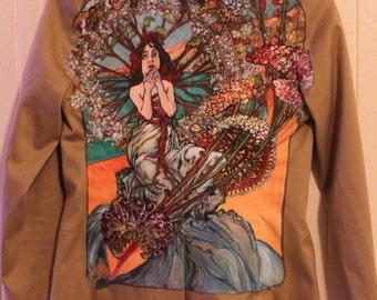 Alphonse Mucha - Hand Painted Blazer