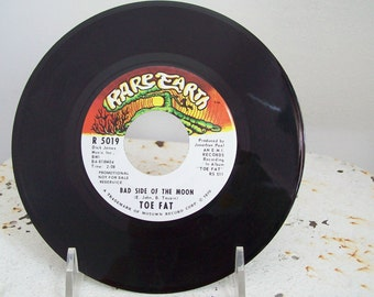 Vinyl record Bad Side of the Moon 1970 Toe Fat  Elton John 45 rpm label Rare Earth  promo copy Ken Hensley Uriah Heep hard to find