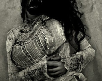 Gas Mask - Fine Art Photography, Digital Photographic Print, Dark Art, Home Decor, Dark Photography, Vintage, Dark Art