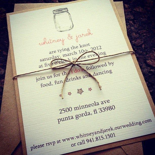 Wedding Invitations Mason Jar: Mason Jar Wedding Invitations