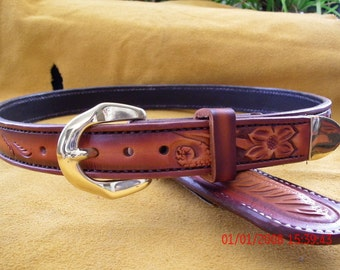 Custom leather belt, Western belt, handmade belt,  Mens belt, Ladies belts, Mens gift, Womens gift