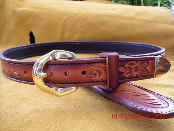 custom leather belt western belt handmade belt mens