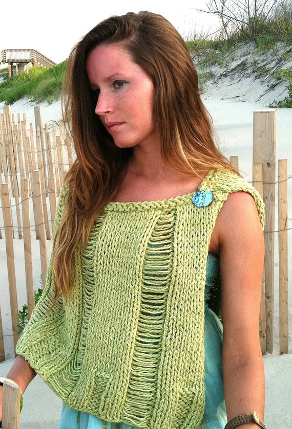 KNITTING PATTERN,knit shawl,womens knit poncho,women,teens,beach cover up,swi...