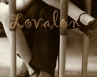 Playing Footsies... Instant Digital Download... 1920's Vintage Glamour Fashion Photo