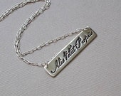 ALIS VOLAT PROPRIIS - Handmade Fine Silver Latin Quote Necklace (She Flies with Her Own Wings) style 3