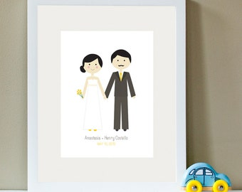 Custom Wedding Portrait, Wedding Illustration, Wedding Portrait, Custom Portrait