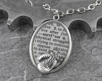 Survivor Definition Necklace - Defining the Life of a Survivor by COGnitive Creations