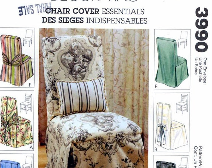 Chic Chair Covers Home decor sewing pattern McCalls 3990 Dining Room Wedding deocrating UNCUT