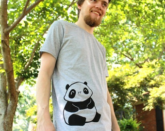 Maru the baby Panda t shirt - Mens