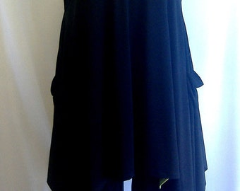 Plus Size Top, Lagenlook. Layering Top, Plus Size Tunic, Womens Tunic Top, Black, Traveler Knit Size 2 Fits 3X,4X  Bust to 60 inches