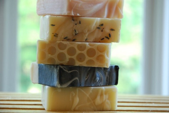 Four bars of handmade Soap  - discounted shipping - cold process by Soap Utopia
