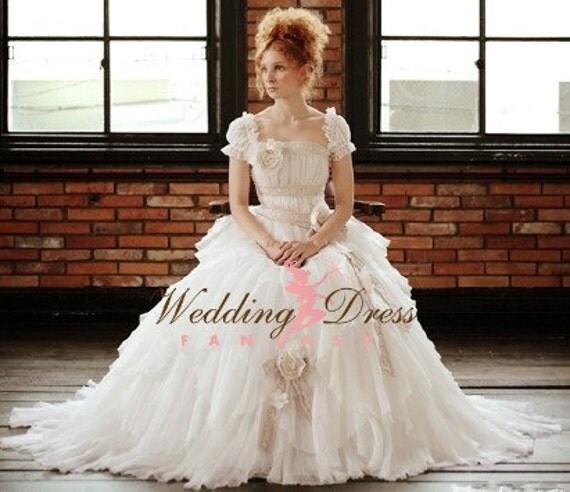 Romantic Rustic Wedding Dress Handmade from Award Winning Bridal Dressmaker in New Jersey
