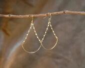 tiny freshwater pearl beads chandlier earrings, romantic jewelry, bridal or everyday, pearl dangle earrings, wedding jewelry, gold earrings