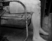 Black and White Photo, Mannequin Legs, Surrealist Art, Vintage Patio Chair, Mannequin Parts, Wall Decor, 5x7, Modern Fine Art Photography