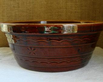 MID CENTURY Bowl By Marcrest Oven Proof USA Biscuit Bowl Batter Bowl Baking Bowl Popcorn Bowl Cottage Kitchen Farm Kitchen Daisy Dot Bowl