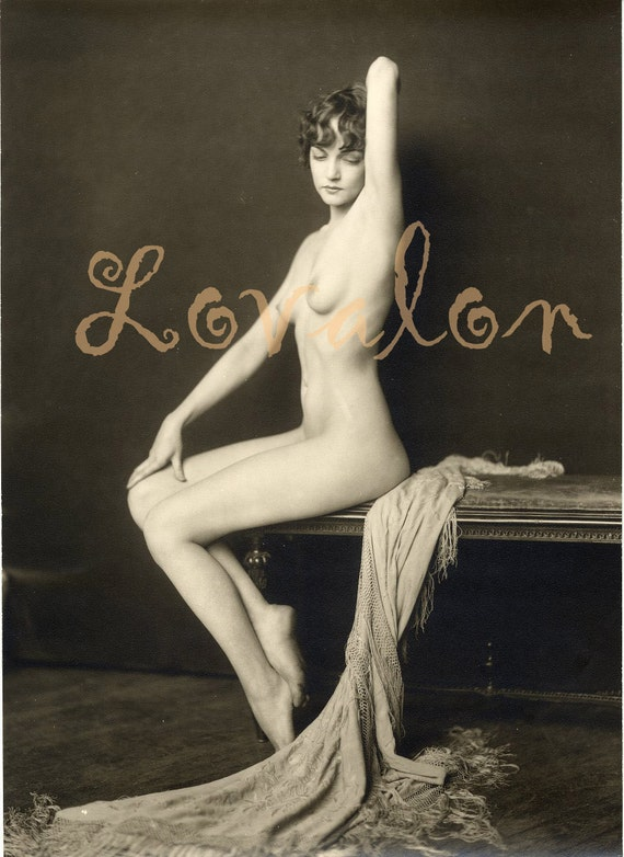 MATURE. . . Silk & Fringe. . .  Vintage Nude Glamour Photo... Deluxe Erotic Art Print... Available In Various Sizes