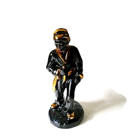 Vintage Joan Lea Blackamoor Nubian Figurine Art Deco