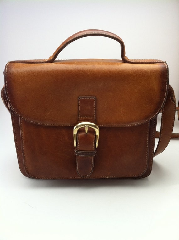 G.H. Bass Tan Leather Tote