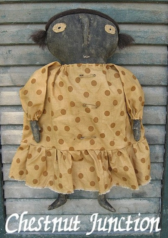 Clove EPATTERN - primitive country craft cloth doll digital download sewing pattern - PDF - 1.99