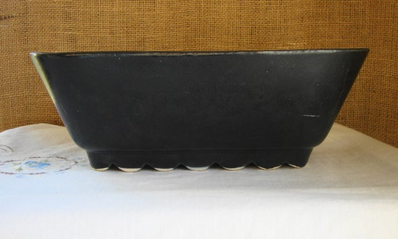 Vintage American Pottery Ceramic Planter by SHAWNEE MID Century Modern Black  Pottery Planter USA Mid Century Ceramic Co Shawnee Planter Pot