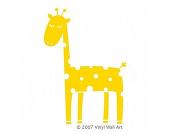 Giraffe Vinyl Wall Decal X-LARGE