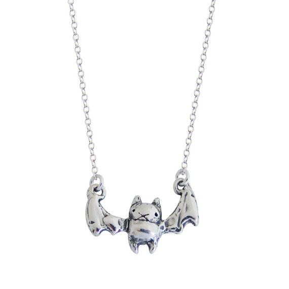 Sterling Silver Bat Necklace