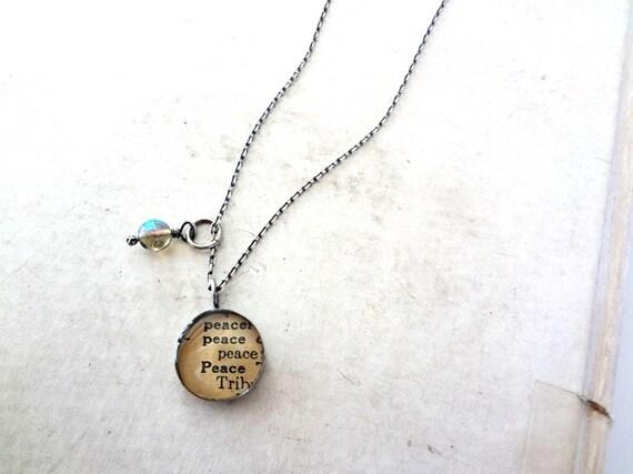 eco jewelry--peace necklace