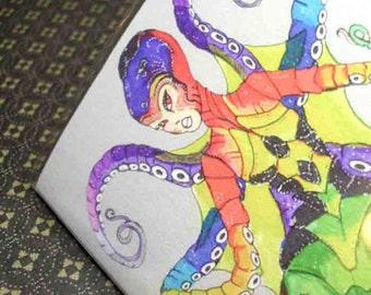 Passport Cover - Octopus Mermaid - unique passport holder
