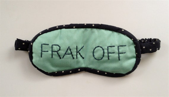 frak off sleep mask in turquoise and navy