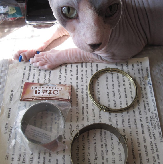 Industrial Chic Bracelet Bangle Altered Art Jewelry Lot