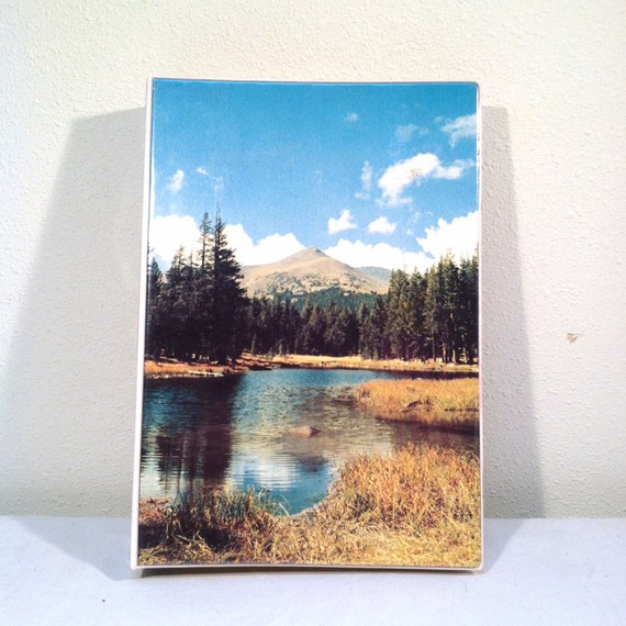1980s MEAD SCENIC ORGANIZER / Bill Paying Binder with Nature Landscape / Trapper Keeper Style