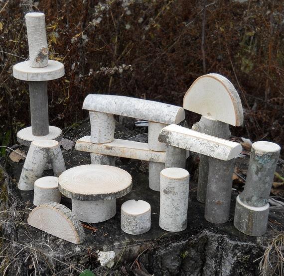 26 Piece Branch Blocks Natural Toys  Building Set