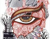 Eye See original art by Megan Noel