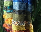 Rainbow Hued Hand-woven Scarf - Made to order