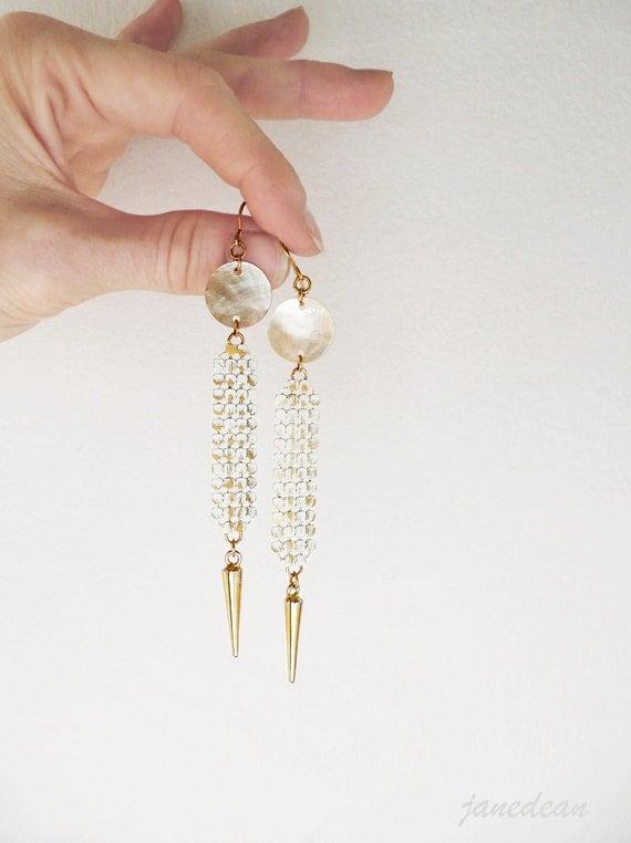 Metal Mesh Earrings - long and lightweight