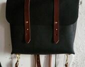 black and cherry rucksack briefcase