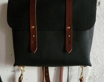 black and cherry rucksack briefcase